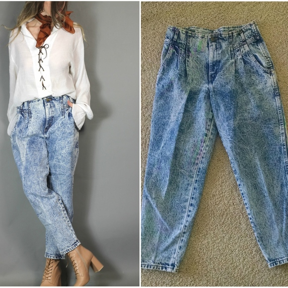 buy sale various styles famous brand Vintage 80s 90s Acid Wash Baggy Mom Jeans